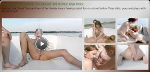 Lesbian Threesome On a Boat With Pee and Poo