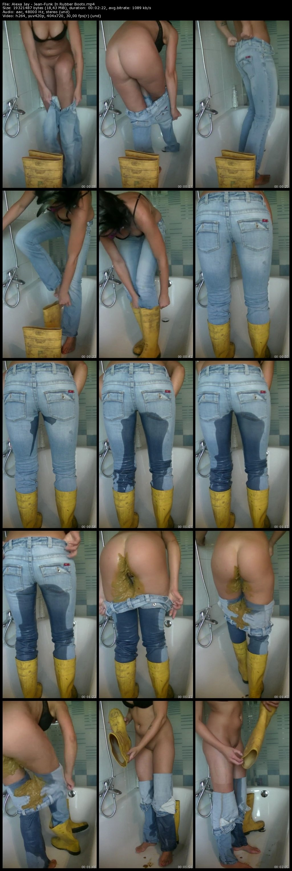 Jeans-Funk In Rubber Boots