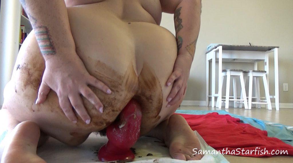 Samantha Starfish – Doggie Dildo Fuck My Shitty Asshole - 4