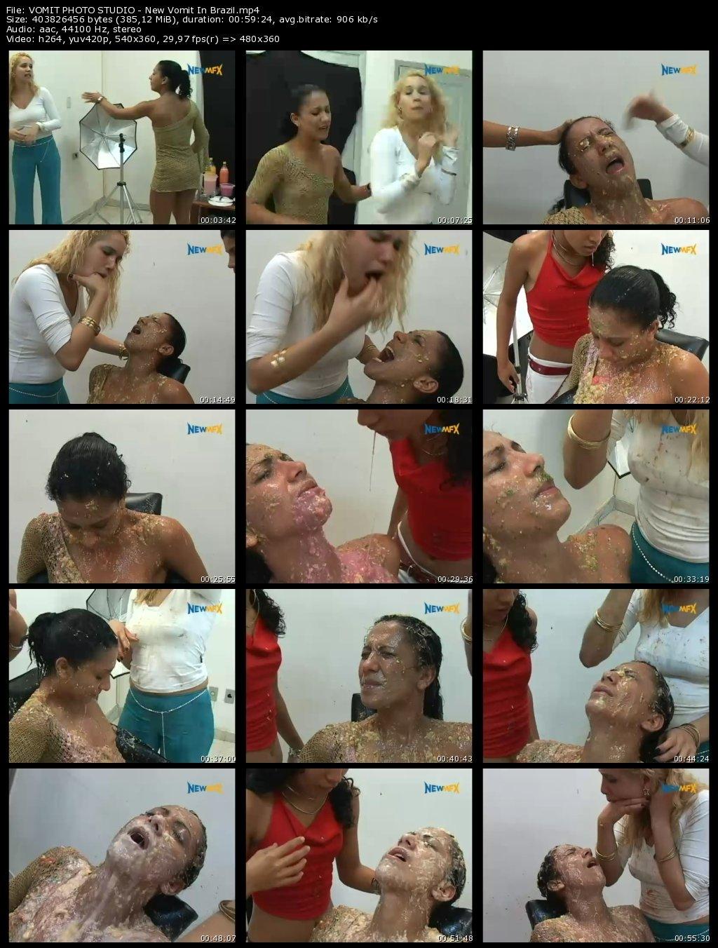 VOMIT PHOTO STUDIO - Giovanna, Michelle and Priscila from New Vomit In Brazil