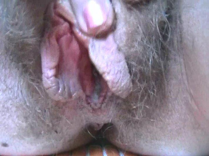 a very hairy gooey creamy pussy - 5
