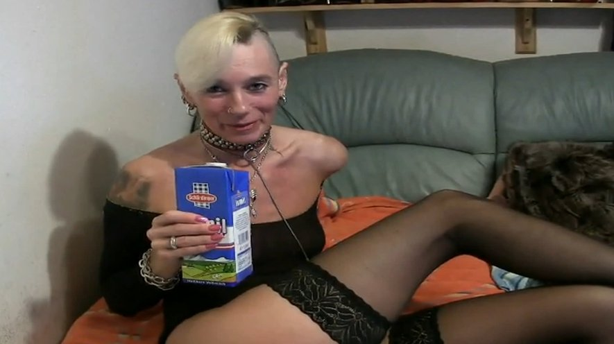 Drinking milk then and puking all over her face - Special FHD Porn (1080p)-1