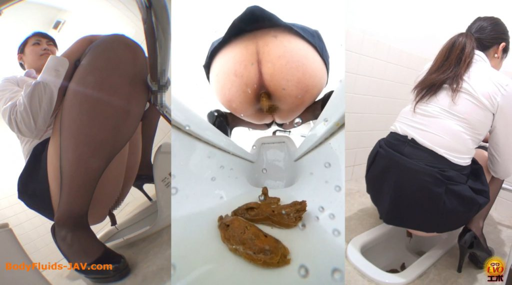 Japanese girls in toilet room make are a lot of poop and pee - 2
