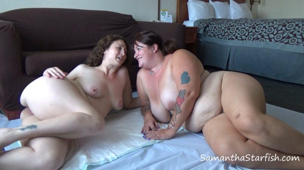 Scat Goddess Amanda shitting big pile in mouth Samantha Starfish - 1