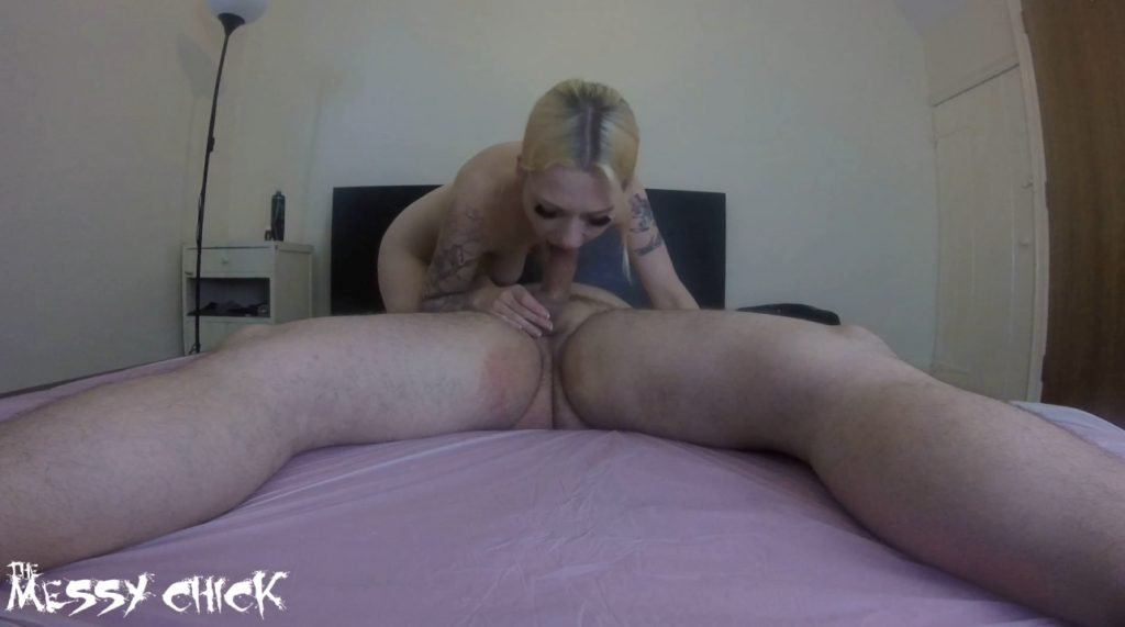 The Messy Chick - Rought Handjob and Balls Spanking 1