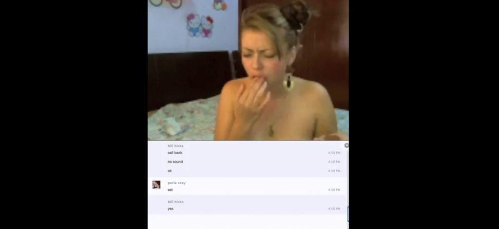 Perla Sexy - Shit Eating, Shitting and Masturbation Via Skype 3