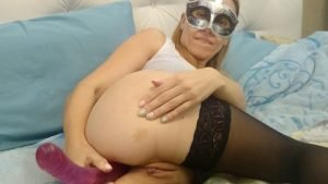 Brown wife –  Couple playing with double dildo (FULL HD 1080p)