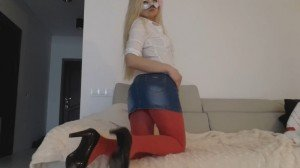 Blonde skirt red pantyhose – The Fart Babes (Full HD 1080p)